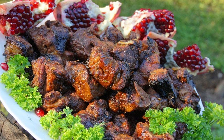 Гранатовый шашлык из свинины