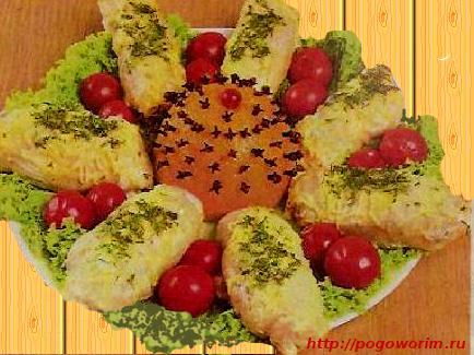 «Мандаринка» — рулеты из куриного филе