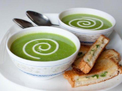 Крем-суп из зеленого горошка