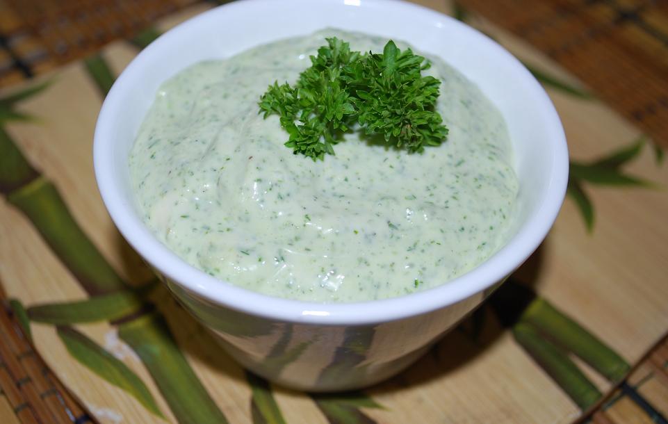 Сливочный соус с зеленью