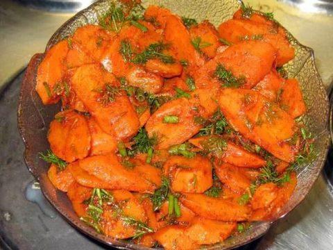 Морковь и тыква по-мароккански