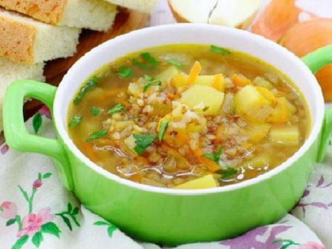 Суп гречневый без мяса
