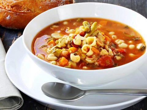 Итальянский суп с фасолью