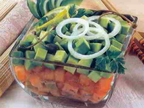 Салат из соленой рыбы