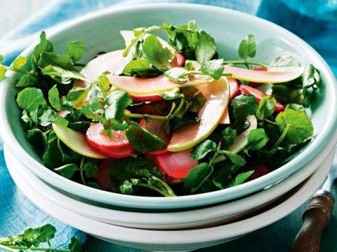 Яблочный салат с редисом