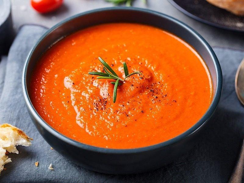 Томатный суп-пюре с тыквой