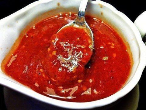 Соус из помидор острый