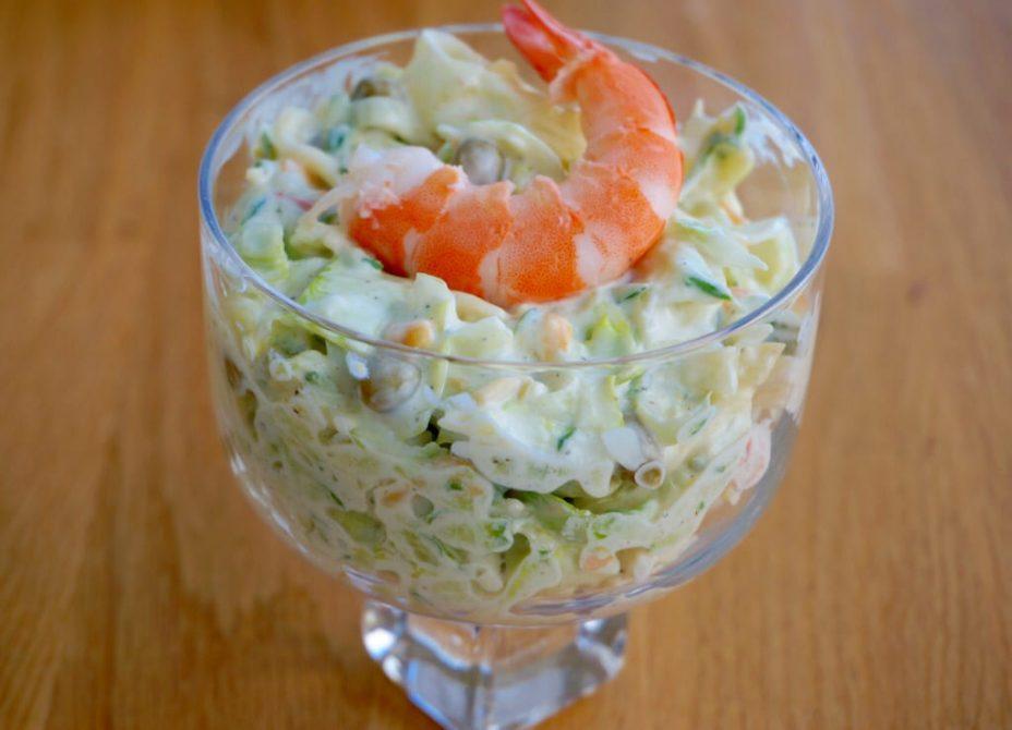 Японский салат с креветками