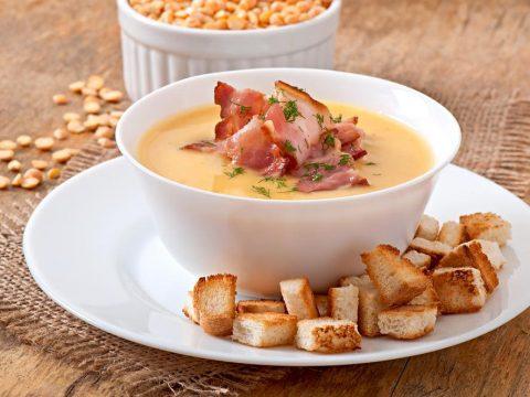 Крем-суп из грибов с ветчиной
