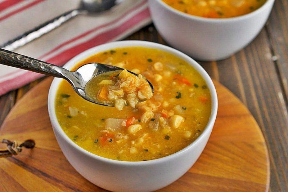 Овощной кукурузный суп