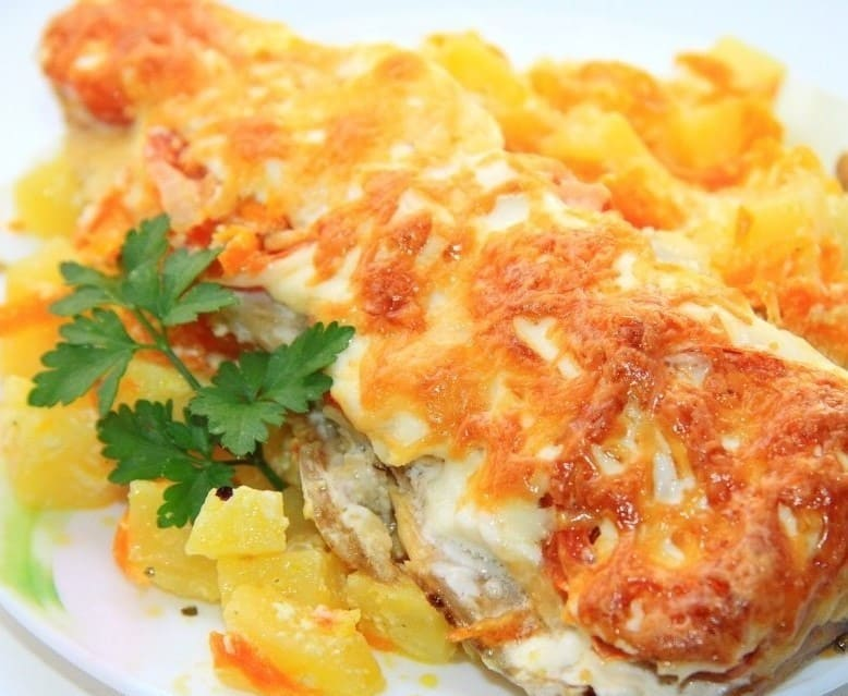 Рецепт тушеной рыбы с рисом и овощами