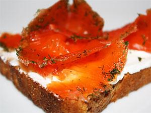 Сервировка лосося