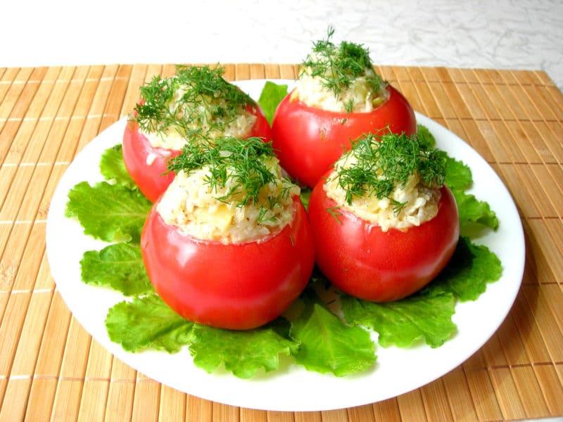 3 вкусных рецепта фаршированных помидоров