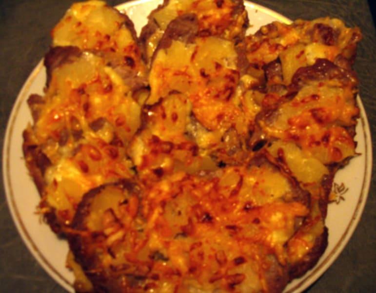 """Отбивные из мяса с ананасом и сыром """"Съешь и удивись"""""""