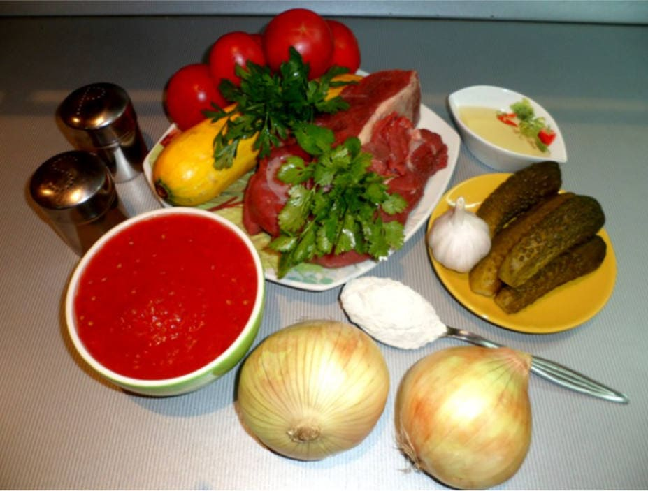 Ингредиенты для азу по татарски