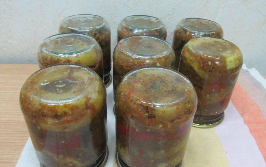 Баклажаны в остром соусе на зиму