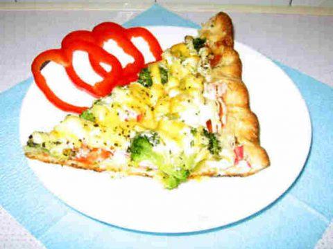 Пицца из слоеного теста по-средиземноморски