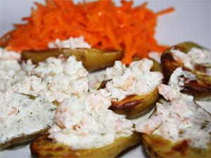 Готовое блюдо запеченая картошка