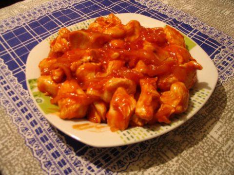 Оригинальный шашлычный салат из куриного филе