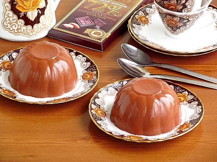 Желе из горького шоколада