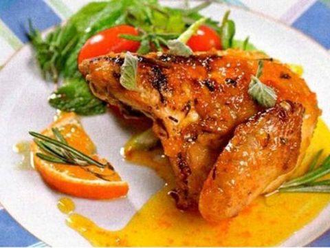 Курица в медово-мандариновом соусе