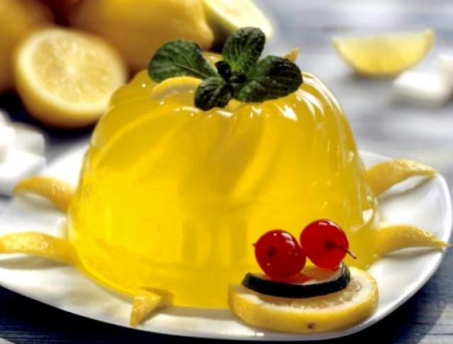 Желе лимонное с желатином