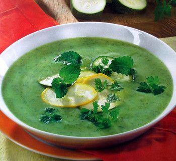 Легкий зеленый овощной крем-суп