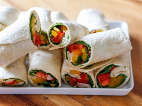 Овощные роллы из лаваша и сыра