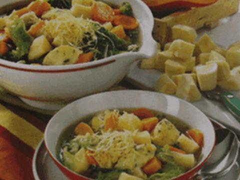 Густой сырно-овощной суп