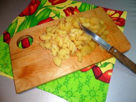 Картошку кубиками