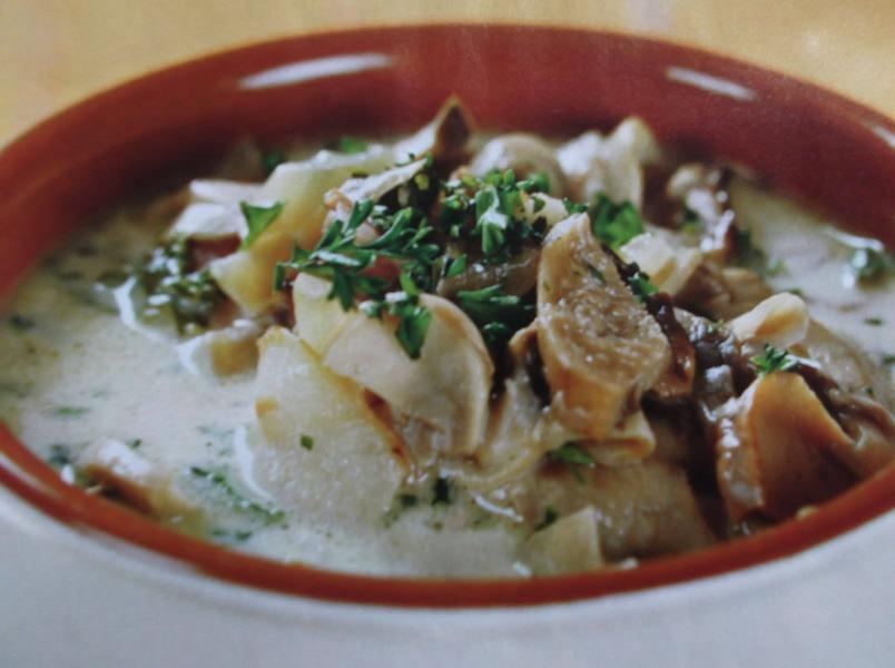 Суп из шампиньонов и белых грибов