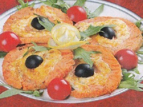 Рулеты из семги с сыром «Рыбий глаз»