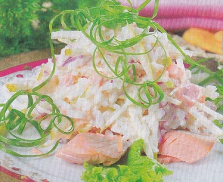 """Салат с красной рыбой """"Волнуется море"""""""