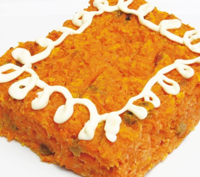 Творожная запеканка с морковью и манкой