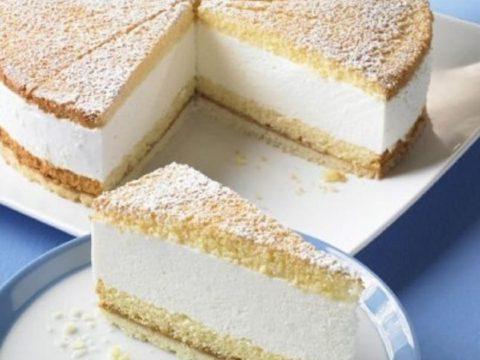 Творожный торт «Воздушный» с манкой и суфле из сметаны