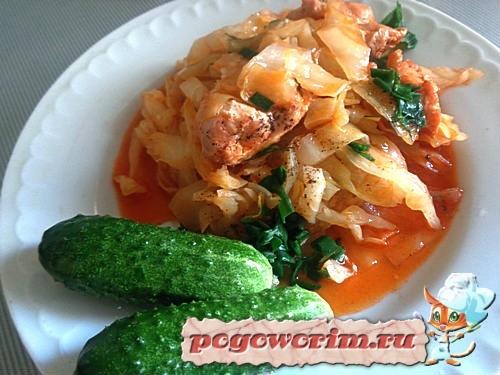Бигус классический из свежей капусты рецепт с томатной пастой и мясом