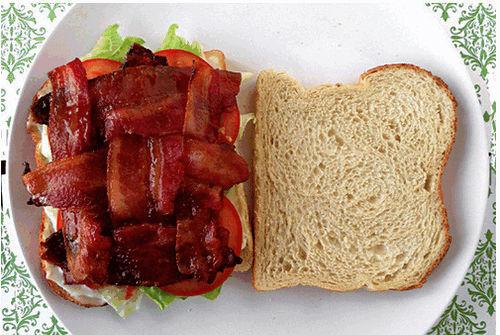 Бутерброды с беконом
