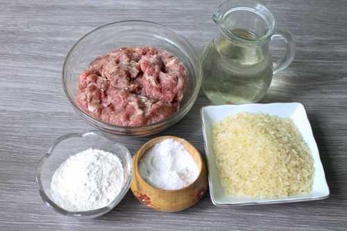 Ингредиенты для тефтелей