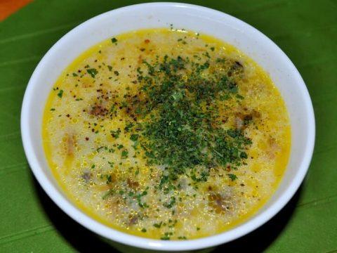 Вкуснейший сырный крем-суп с зеленью