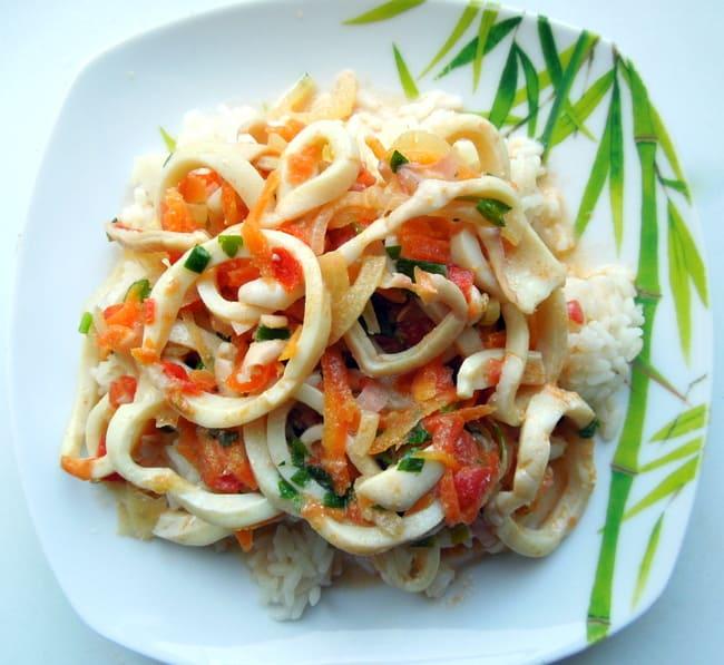 Овощной с кальмарами