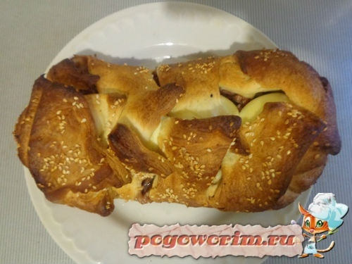 Кулебяка с мясным фаршем и яйцами рецепт с фото пошагово в духовке