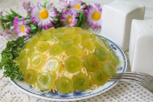 Салат «Тиффани» с зеленым виноградом