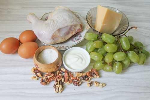 Ингредиенты для салата Тифани