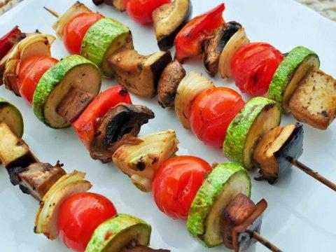 Шашлык из овощей и грибов
