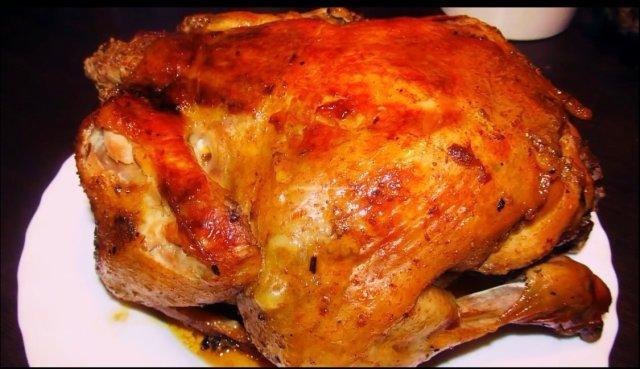 Жареная курица с румяной корочкой