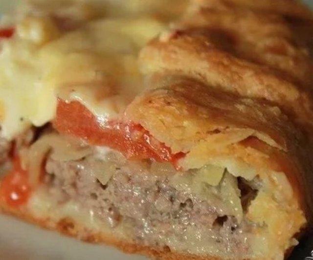 Картофельный пирог с мясом