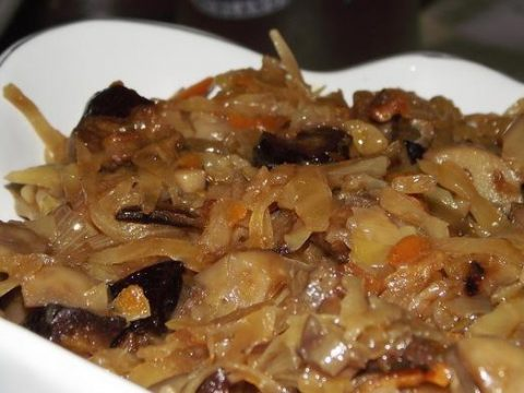 Рецепты. Бигос грибной