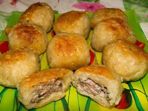 Колдунчики из картофеля с мясом